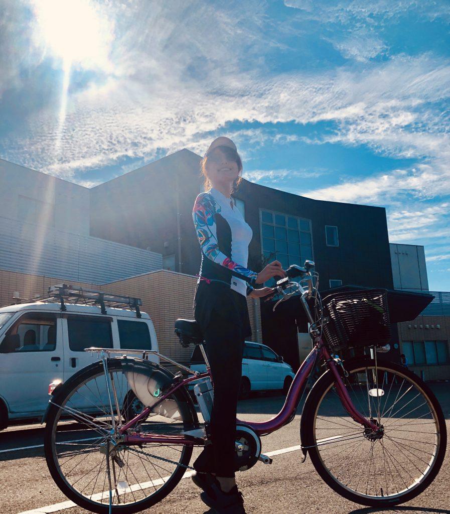 女子自行車旅行